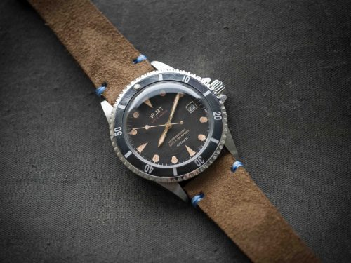Royal marine brown strap wmt ocean aged ver wmtwatch for Marine watches